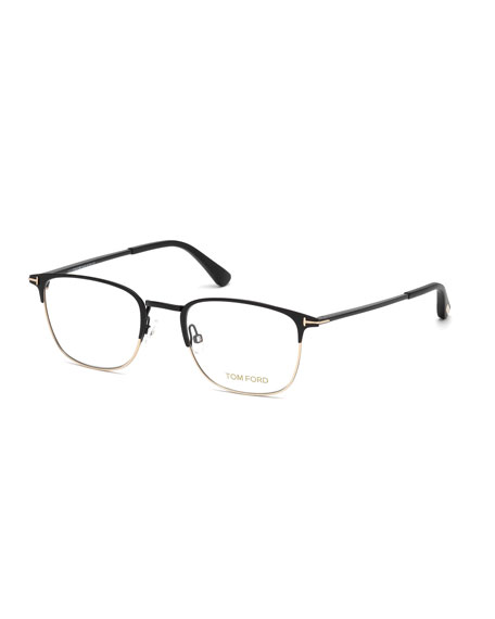 Square Metal Optical Frames, Black