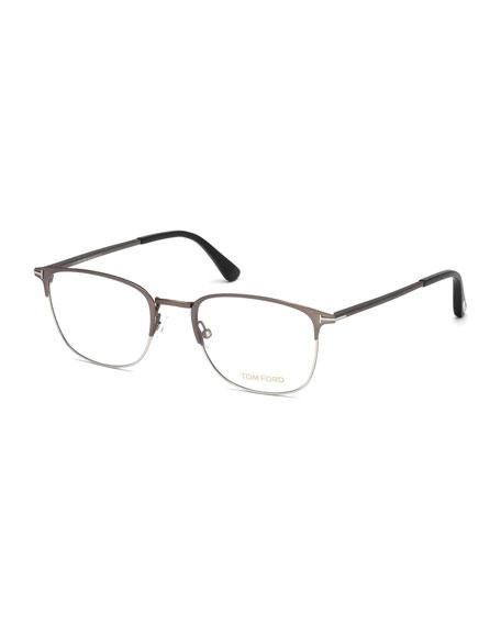 Square Metal Optical Frames, Gray