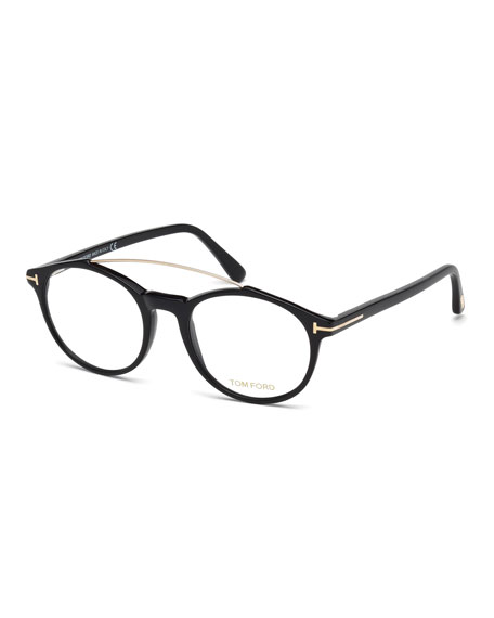 TOM FORD Round Brow-Bar Optical Frames