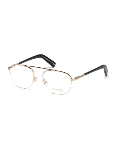 Metal Pilot Optical Frames, Rose Gold