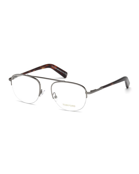TOM FORD Metal Pilot Optical Frames, Gray