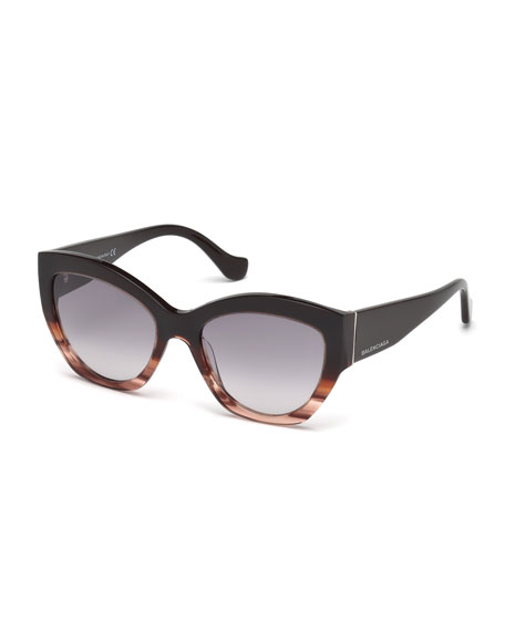 Balenciaga Chunky Cat-Eye Sunglasses
