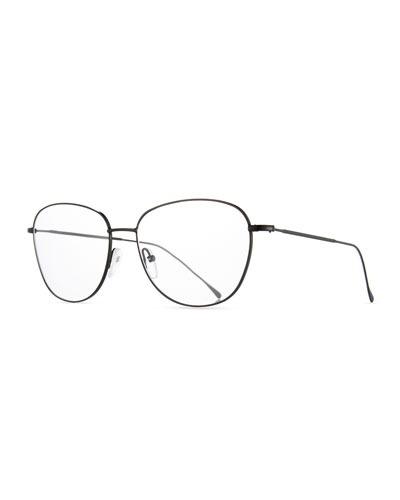 New York Square Optical Frames, Black