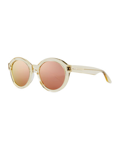 Carnaby 55 Champagne Lavender Mirror Sunglasses
