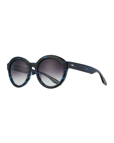 Carnaby 55 Midnight Smolder Round Sunglasses