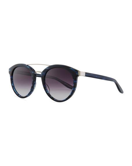 Barton Perreira Dalziel Oval Sunglasses with Metal Bar