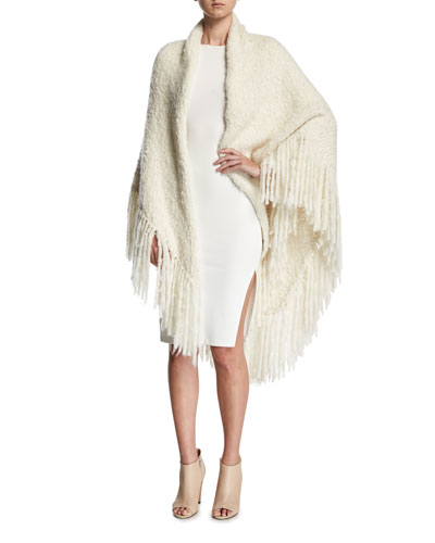 Lauren Fringed Cashmere Wrap Shawl