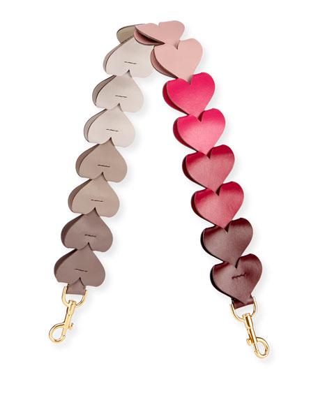 16 Hearts Link Strap for Handbag in Pink Pattern