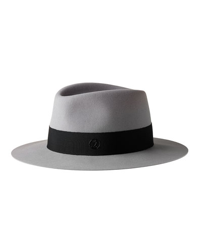 Andre Timeless Waterproof Felt Fedora Hat, Gray