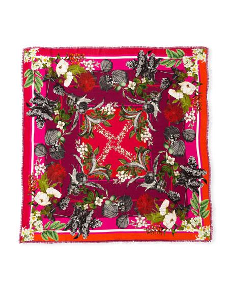 Geraldine Wool Floral Print Scarf