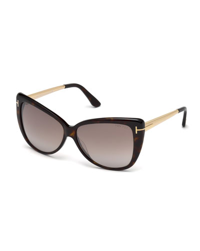 Reveka Gradient Butterfly Sunglasses
