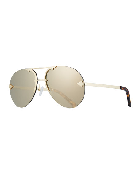 Love Hangover Semi-Rimless Aviator Sunglasses