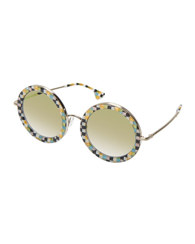 Beverly Round Printed Sunglasses