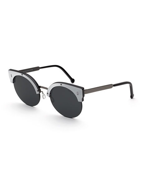 Era Semi-Rimless Cat-Eye Sunglasses