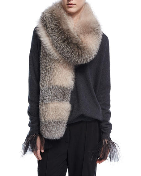 Dégradé Fox Fur Stole