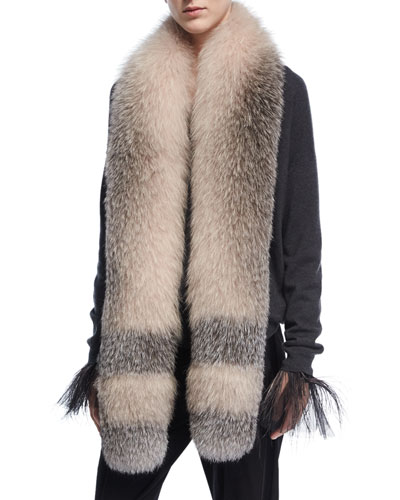 Dégradé Fox Fur Stole