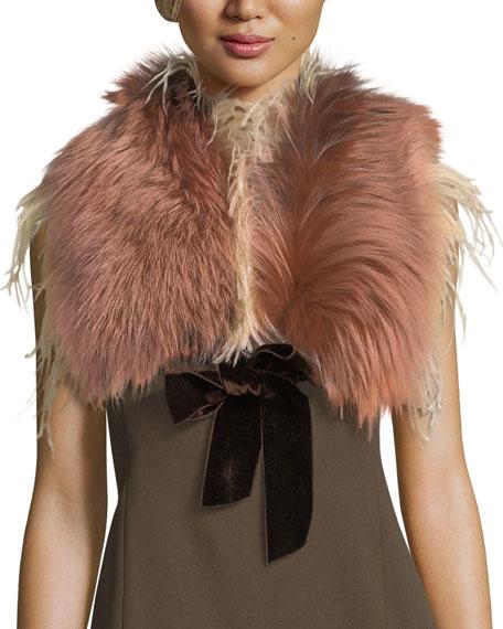 Fox Fur & Ostrich Feather Stole