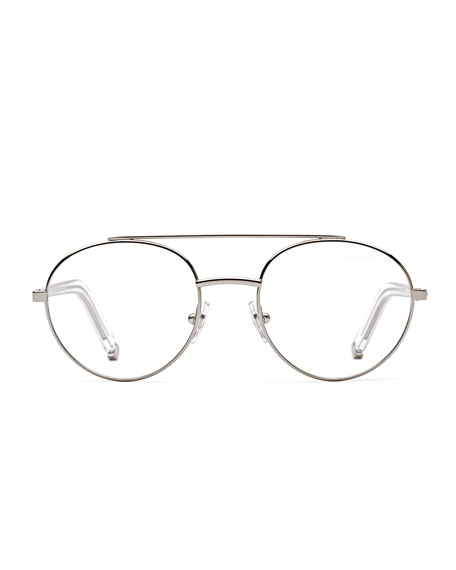 Numero 32 Aviator Metal Optical Frames, Silver