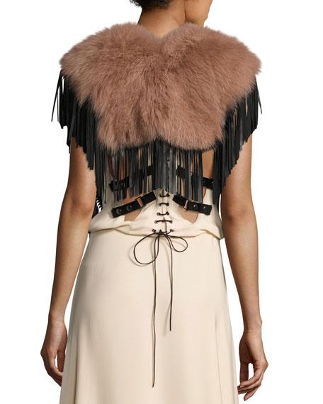 Lily Fur Fringed Collar