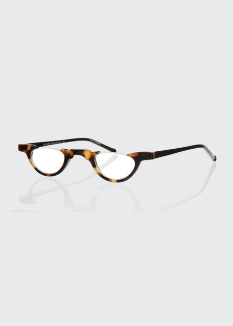 Topless Semi-Rimless Acetate Readers