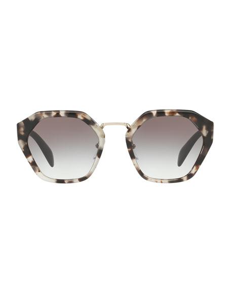 Hexagonal Two-Tone Sunglasses