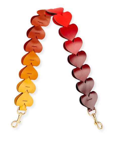 16 Hearts Link Strap for Handbag in Honey Citrus