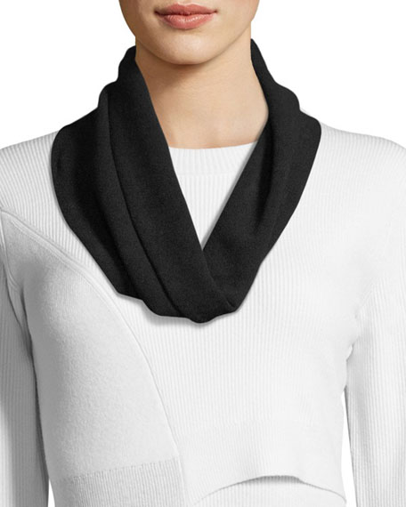 Stretch-Crepe Infinity Scarf