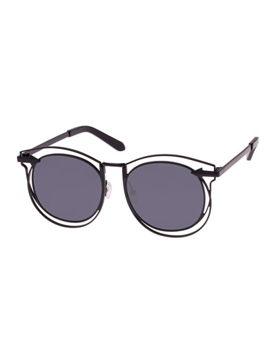 Superstars Simone Round Monochromatic Sunglasses