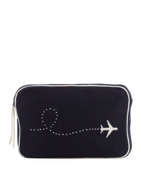 Plane Intarsia Cashmere Travel Set