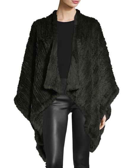 Knit Fur Cape