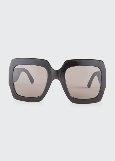 Glittered Square GG Sunglasses