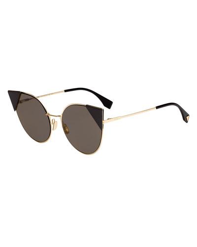 Lei Monochromatic Cat-Eye Sunglasses