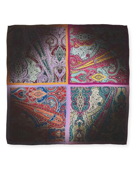 Bamby Foulard Silk Paisley Scarf