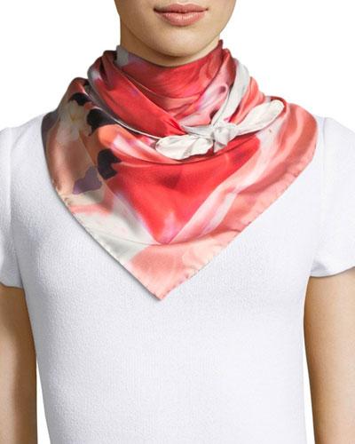 Tulimax Floral-Print Silk Scarf