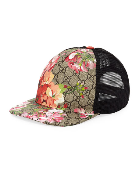 Gucci Blooms GG Supreme Canvas Baseball Cap