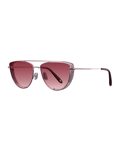 Zephyr Side-Shield Gradient Sunglasses