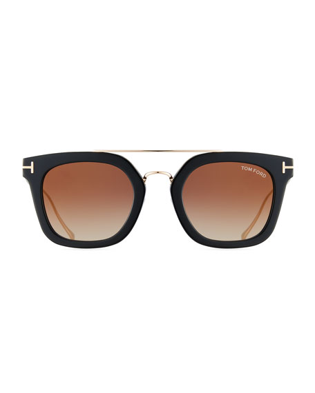 Alex Plastic & Metal Square Unisex Sunglasses