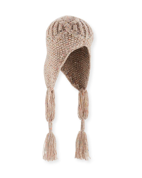 Chunky-Knit Wool-Cashmere Trapper Hat