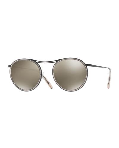 MP-3 30th Anniversary Round Photochromic Sunglasses, Gray