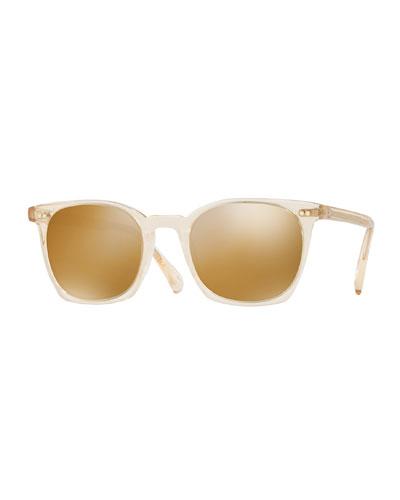 La Coen Mirrored Square Sunglasses