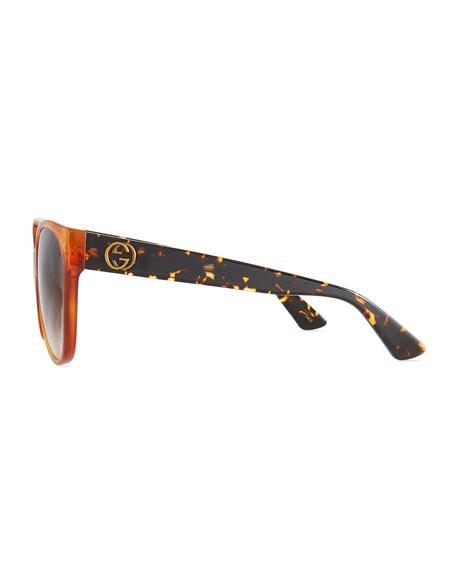 ccce118ecb Gucci Gradient Oversized Cat-Eye Sunglasses