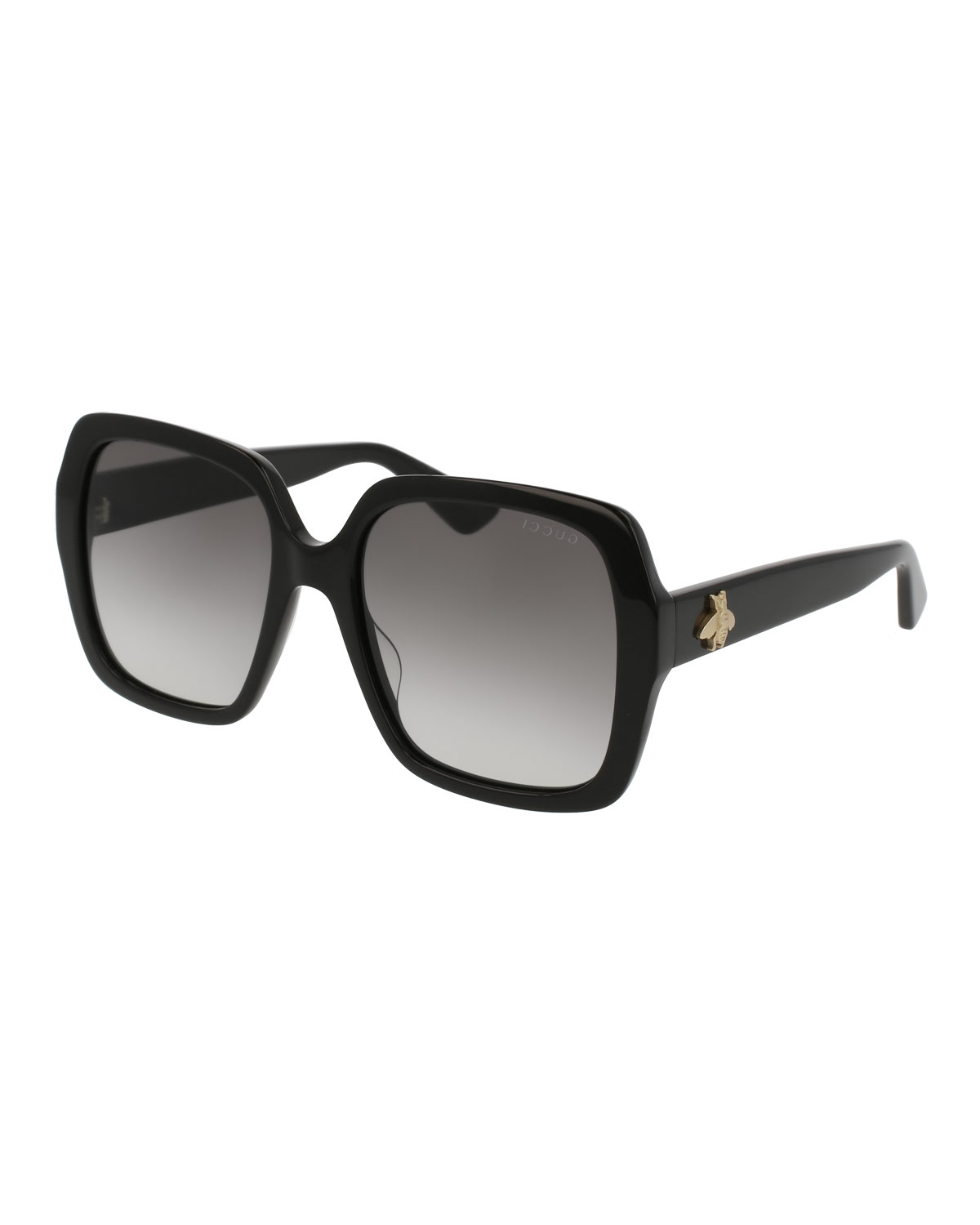 Gucci Square Bee \u0026 Logo Acetate Sunglasses