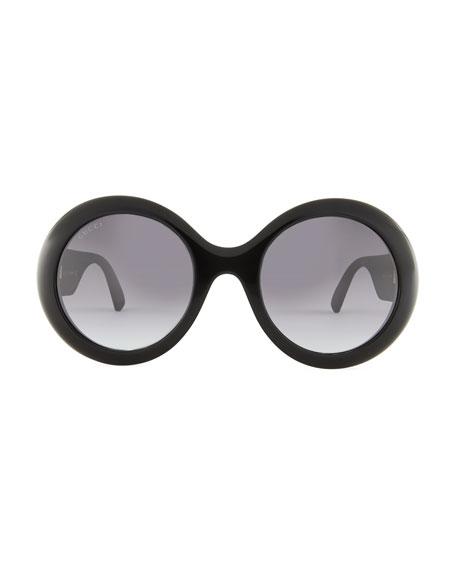Rounf GG Glitter Sunglasses