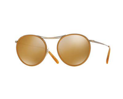 MP-3 30th Round Photochromic Sunglasses, Orange