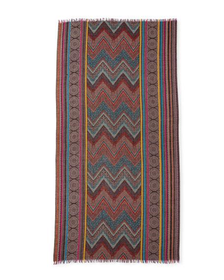 Design So Fine Chevron Wool Shawl