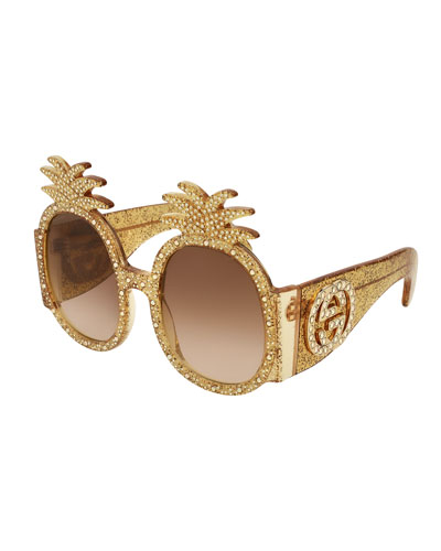 Crystal Pineapple GG Sunglasses
