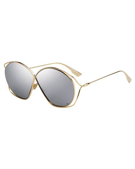 DiorStellaire 2 Round Cutout Sunglasses