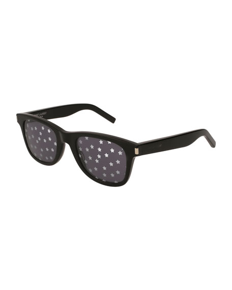 Saint Laurent SL 51 Unisex Rectangle Star Sunglasses