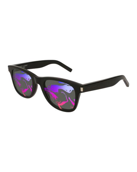 Saint Laurent SL 51 Rectangle Abstract-Lenses Sunglasses