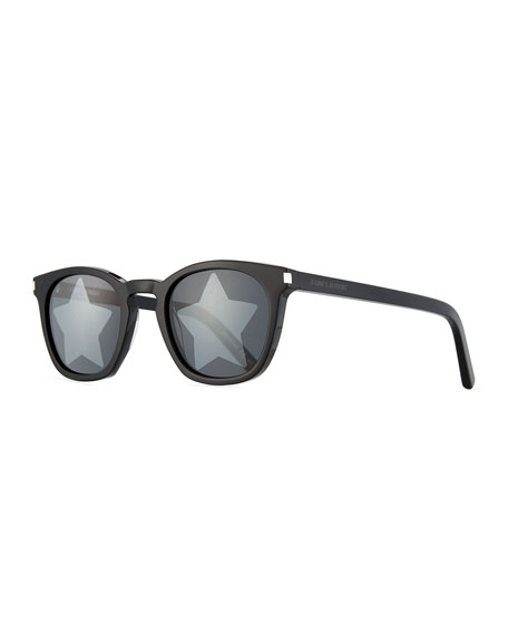 Saint Laurent  SQUARE ACETATE STAR-LENS SUNGLASSES